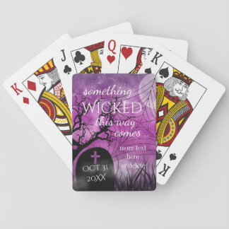 Wicked Fun Halloween Wedding Custom Playing Cards