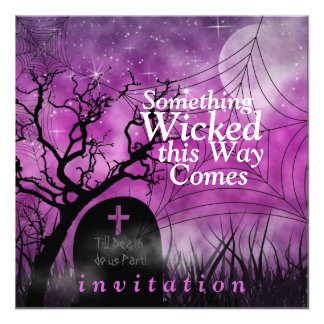 Wicked Fun Halloween Wedding Invitation