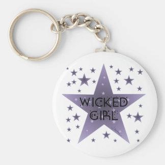 Wicked Girl Key Ring