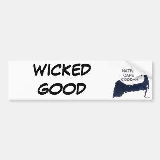 WICKED GOOD Native Cape Coddah Car Bumper Sticker