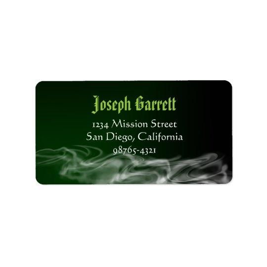 Wicked green smoke Halloween return address Address Label