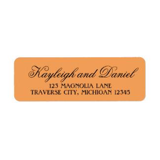 Wicked Halloween Chevron Orange Black Address