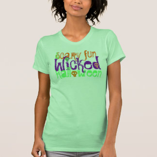 Wicked Halloween with Sculls- Women's Top Tshirt