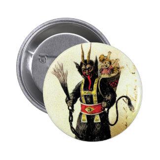 Wicked Krampus Scary Demon Holiday Christmas Xmas 6 Cm Round Badge