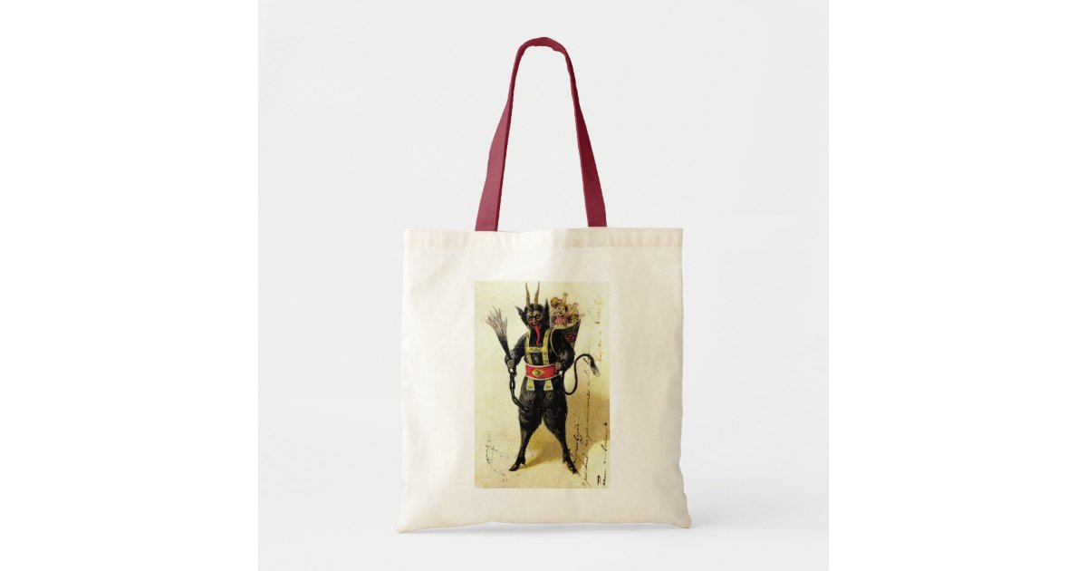Wicked Krampus Scary Demon Holiday Christmas Xmas Tote Bag ...