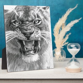 Wicked Lioness design by schukina 748d Plaque