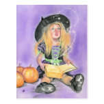 Wicked little witch spells postcard