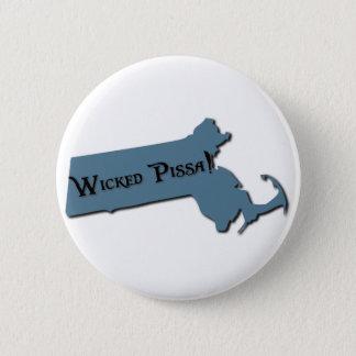 Wicked Pissa Massachusetts 6 Cm Round Badge