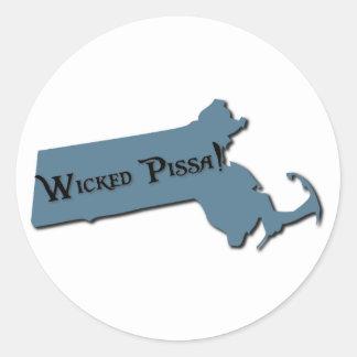 Wicked Pissa Massachusetts Sticker