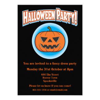 Wicked Pumpkin Halloween Invitation