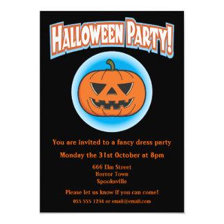 Wicked Pumpkin Halloween Invitation 13 Cm X 18 Cm Invitation Card