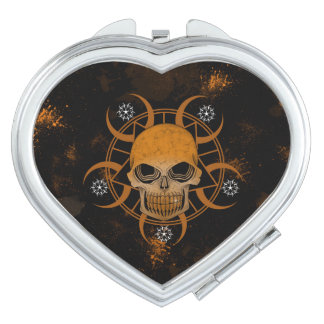 Wicked Skull Compact Mirror