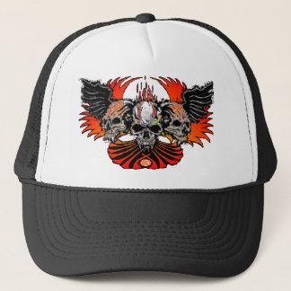 Wicked Skulls Wings Flames Phoenix... - Customized Cap
