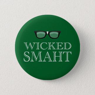 Wicked Smaht(Smart) Boston Speak Humor 6 Cm Round Badge