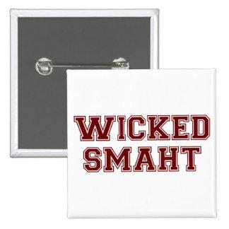 Wicked Smart (Smaht) College Boston 15 Cm Square Badge
