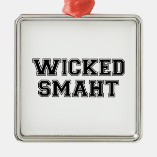 Wicked Smart (Smaht) College Boston Christmas Ornament