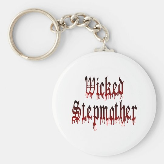 Wicked Stepmother Basic Round Button Key Ring
