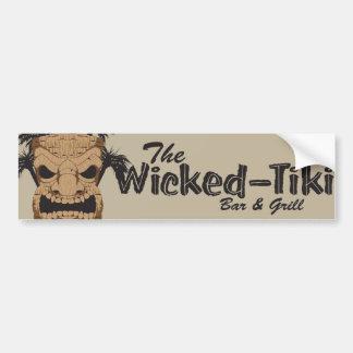 Wicked Tiki Bar Car Bumper Sticker