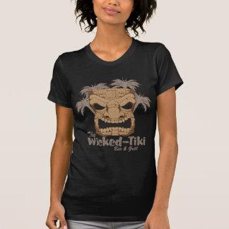 Wicked Tiki Bar Ladie's Dark Destroyed T-Shirt