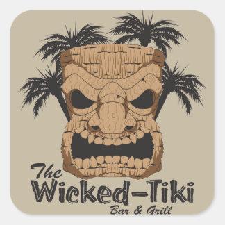 Wicked Tiki Bar Stickers