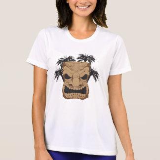Wicked Tiki Carving Ladie's Micro Fiber T-Shirt
