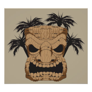 Wicked Tiki Carving Poster