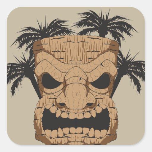 Wicked Tiki Carving Stickers