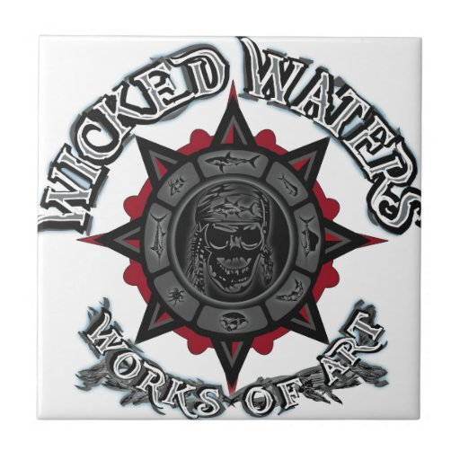 Wicked Waters works of art apparel, clothes, gifts Tiles