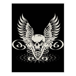 Wicked Winged Skull Postcard