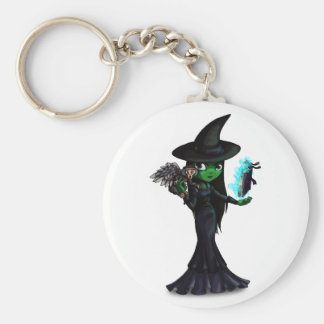 Wicked Witch Basic Round Button Key Ring