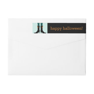 Wicked Witch Boots Halloween Address Labels