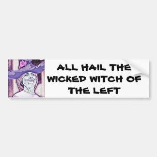 Wicked witch bumper sticker