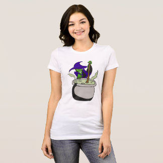 Wicked Witch Cauldron Halloween Graphic T-shirt