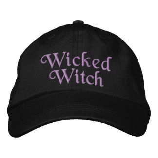 Wicked Witch Embroidered Hats