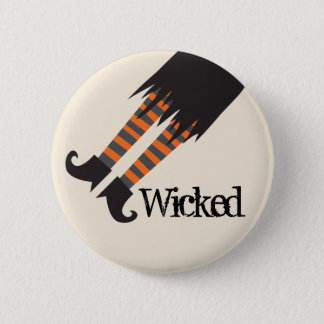 Wicked Witch Funny Halloween 6 Cm Round Badge