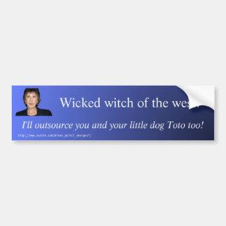 """Wicked Witch of the west"" bumper sticker Car Bumper Sticker"