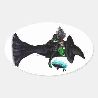 Wicked Witch Oval Sticker