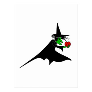 Wicked Witch & Poison Apple Postcard
