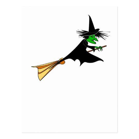 Wicked Witch Surrender Broomstick Postcard