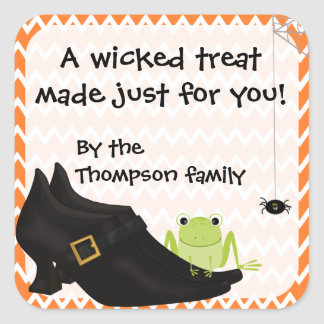 Wicked Witch Treat Stickers