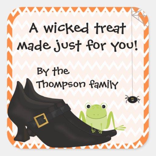 Wicked Witch Treat Stickers