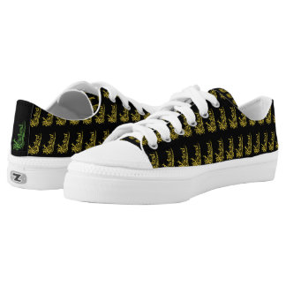 Wicked Yellow Pattern Canvas Sneakers