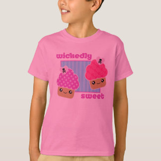 Wickedly Sweet Kawaii Cupcakes Pink T-Shirt