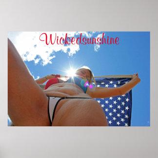 Wickedsunshine Bikini Poster