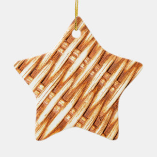 Wicker background christmas ornament
