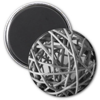 Wicker Ball 6 Cm Round Magnet