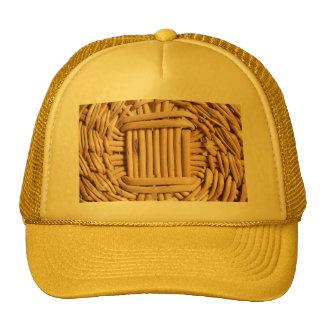 Wicker basket closeup cap