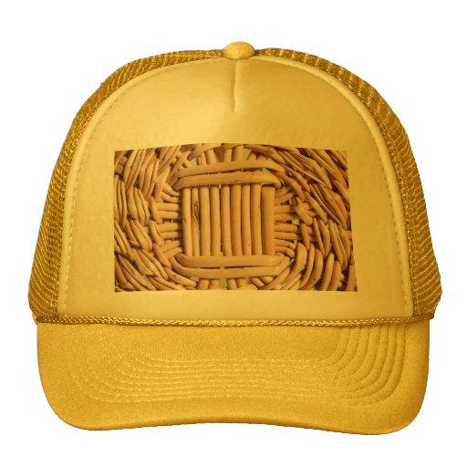 Wicker basket closeup hats