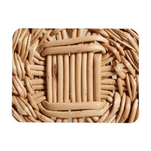 Wicker basket closeup flexible magnet