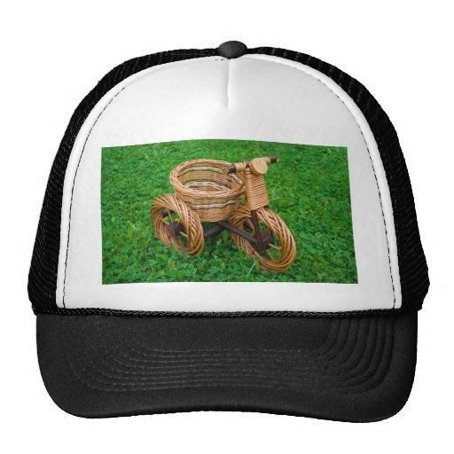 Wicker Basket Furniture In A Bike Shape On The Gra Mesh Hat